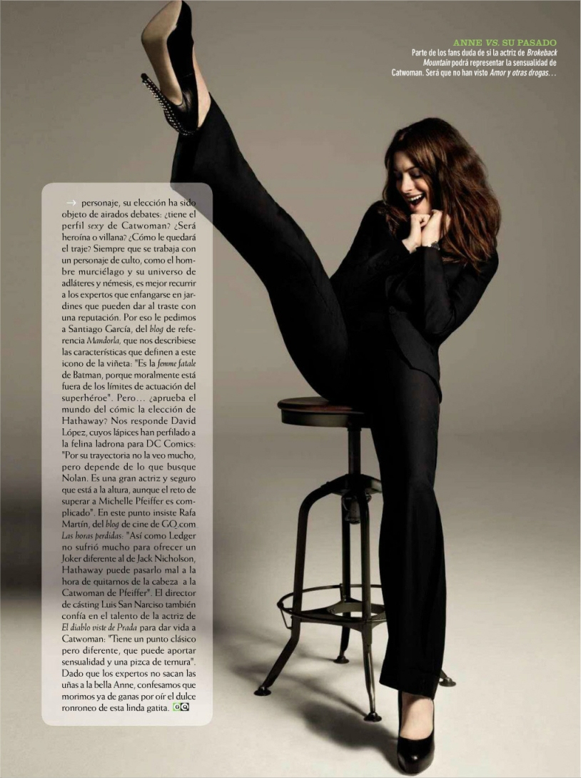 Anne Hathaway As Catwoman -In An Inspired photoshoot for GQ Spain. – Celeb De'la Cream Boutique Fashion & Style